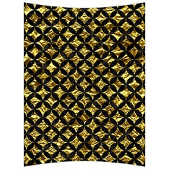 Circles3 Black Marble & Gold Foil (r) Back Support Cushion