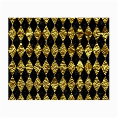 Diamond1 Black Marble & Gold Foil Small Glasses Cloth (2 Side)