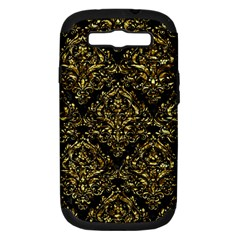 Damask1 Black Marble & Gold Foil Samsung Galaxy S Iii Hardshell Case (pc+silicone)