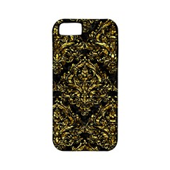 Damask1 Black Marble & Gold Foil Apple Iphone 5 Classic Hardshell Case (pc+silicone)
