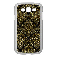 Damask1 Black Marble & Gold Foil Samsung Galaxy Grand Duos I9082 Case (white)