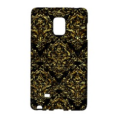 Damask1 Black Marble & Gold Foil Galaxy Note Edge
