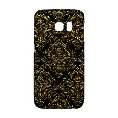 Damask1 Black Marble & Gold Foil Galaxy S6 Edge