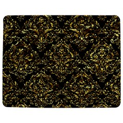 Damask1 Black Marble & Gold Foil Jigsaw Puzzle Photo Stand (rectangular)