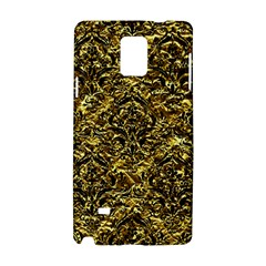 Damask1 Black Marble & Gold Foil (r) Samsung Galaxy Note 4 Hardshell Case