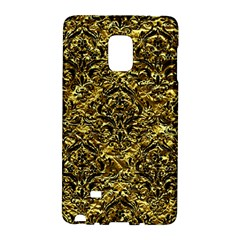 Damask1 Black Marble & Gold Foil (r) Galaxy Note Edge