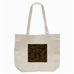 Damask2 Black Marble & Gold Foil Tote Bag (cream)