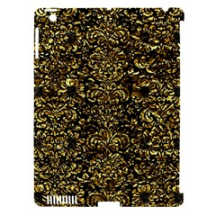 Damask2 Black Marble & Gold Foil Apple Ipad 3/4 Hardshell Case (compatible With Smart Cover)