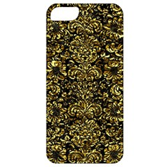 Damask2 Black Marble & Gold Foil Apple Iphone 5 Classic Hardshell Case