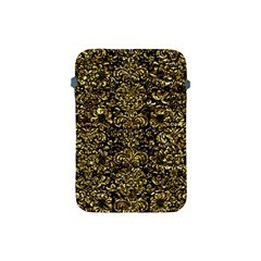 Damask2 Black Marble & Gold Foil Apple Ipad Mini Protective Soft Cases