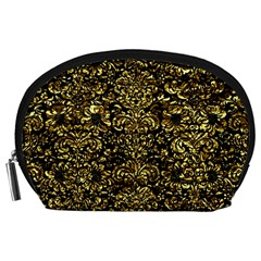 Damask2 Black Marble & Gold Foil Accessory Pouches (large)