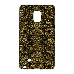 Damask2 Black Marble & Gold Foil Galaxy Note Edge