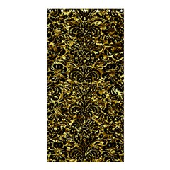 Damask2 Black Marble & Gold Foil (r) Shower Curtain 36  X 72  (stall)
