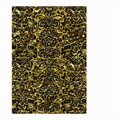 Damask2 Black Marble & Gold Foil (r) Small Garden Flag (two Sides)