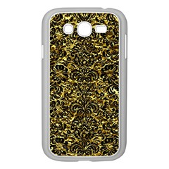 Damask2 Black Marble & Gold Foil (r) Samsung Galaxy Grand Duos I9082 Case (white)