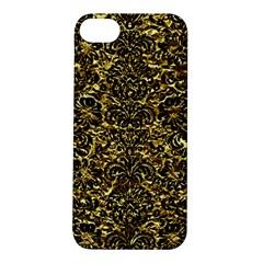 Damask2 Black Marble & Gold Foil (r) Apple Iphone 5s/ Se Hardshell Case