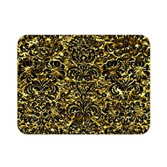 Damask2 Black Marble & Gold Foil (r) Double Sided Flano Blanket (mini)