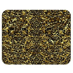 Damask2 Black Marble & Gold Foil (r) Double Sided Flano Blanket (medium)