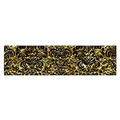 Damask2 Black Marble & Gold Foil (r) Satin Scarf (oblong)