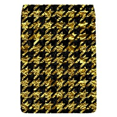 Houndstooth1 Black Marble & Gold Foil Flap Covers (s)