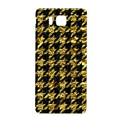 Houndstooth1 Black Marble & Gold Foil Samsung Galaxy Alpha Hardshell Back Case