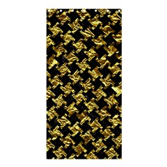 Houndstooth2 Black Marble & Gold Foil Shower Curtain 36  X 72  (stall)