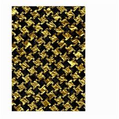 Houndstooth2 Black Marble & Gold Foil Large Garden Flag (two Sides)