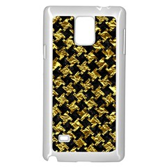 Houndstooth2 Black Marble & Gold Foil Samsung Galaxy Note 4 Case (white)