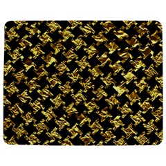 Houndstooth2 Black Marble & Gold Foil Jigsaw Puzzle Photo Stand (rectangular)