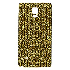 Hexagon1 Black Marble & Gold Foil (r) Galaxy Note 4 Back Case