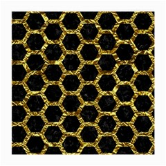 Hexagon2 Black Marble & Gold Foil Medium Glasses Cloth (2 Side)