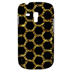 Hexagon2 Black Marble & Gold Foil Galaxy S3 Mini