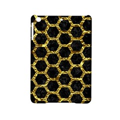 Hexagon2 Black Marble & Gold Foil Ipad Mini 2 Hardshell Cases