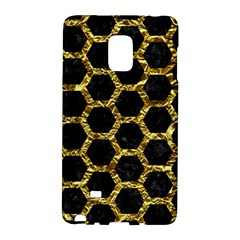 Hexagon2 Black Marble & Gold Foil Galaxy Note Edge