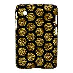 Hexagon2 Black Marble & Gold Foil (r) Samsung Galaxy Tab 2 (7 ) P3100 Hardshell Case