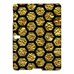 Hexagon2 Black Marble & Gold Foil (r) Samsung Galaxy Tab S (10 5 ) Hardshell Case