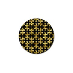 Puzzle1 Black Marble & Gold Foil Golf Ball Marker (4 Pack)