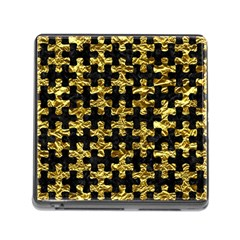 Puzzle1 Black Marble & Gold Foil Memory Card Reader (square)