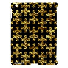 Puzzle1 Black Marble & Gold Foil Apple Ipad 3/4 Hardshell Case (compatible With Smart Cover)