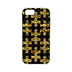 Puzzle1 Black Marble & Gold Foil Apple Iphone 5 Classic Hardshell Case (pc+silicone)