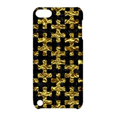 Puzzle1 Black Marble & Gold Foil Apple Ipod Touch 5 Hardshell Case With Stand