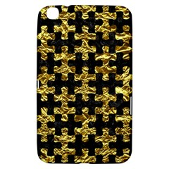 Puzzle1 Black Marble & Gold Foil Samsung Galaxy Tab 3 (8 ) T3100 Hardshell Case