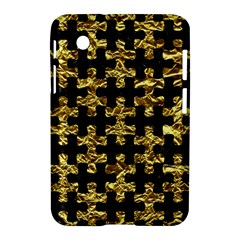 Puzzle1 Black Marble & Gold Foil Samsung Galaxy Tab 2 (7 ) P3100 Hardshell Case