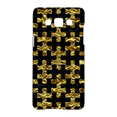 Puzzle1 Black Marble & Gold Foil Samsung Galaxy A5 Hardshell Case
