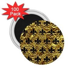 Royal1 Black Marble & Gold Foil 2 25  Magnets (100 Pack)