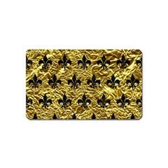Royal1 Black Marble & Gold Foil Magnet (name Card)