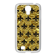 Royal1 Black Marble & Gold Foil Samsung Galaxy S4 I9500/ I9505 Case (white)