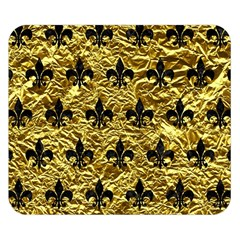 Royal1 Black Marble & Gold Foil Double Sided Flano Blanket (small)