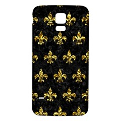 Royal1 Black Marble & Gold Foil (r) Samsung Galaxy S5 Back Case (white)