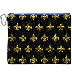 Royal1 Black Marble & Gold Foil (r) Canvas Cosmetic Bag (xxxl)